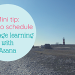 how to schedule language learning with asana